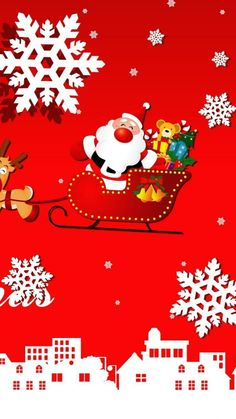 Santa on the sled Christmas iPhone 6 plus