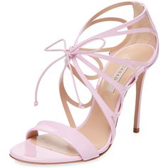 80140c5ecbdcb8 Casadei Women s Patent Leather Strappy Sandal - Pink
