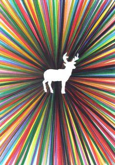 "young deer    by Federico Faggion  Art Print / MINI (8"" x 10"")    $17.00"