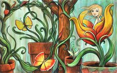 Bloom by Kelly Vivanco 2016 - for Thumbelina book.