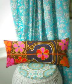 modflowers: phew what a scorcher! New Theme, Vintage Fabrics, Whimsical, Product Launch, Pillows, Retro, Color, Design, Cute Stuff