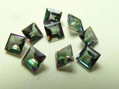 Lot of (9) 4x4mm Princess Cut Loose Gemstones Mystic Topaz 4 Cttw - NEW 724  #Unbranded