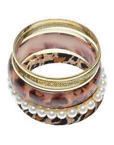 GODDESS | Bangle Pack with Animal Print - Women - Style36 Bangles, Bracelets, Summer Trends, Wedding Rings, Engagement Rings, Animal, Jewelry, Women, Fashion