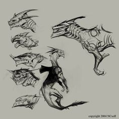 Character Design Cartoon, Character Design References, Fantasy Creatures, Mythical Creatures, Dragon Sketch, Dragon Games, Fantasy Monster, Monster Design, Animal Sketches