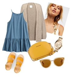 A fashion look from July 2017 featuring flutter-sleeve dress, brown cardigan and platform sandals. Browse and shop related looks. Draper James, Brown Cardigan, Flutter Sleeve, Fossil, Blue Dresses, Free People, Fashion Looks, Michael Kors, Polyvore