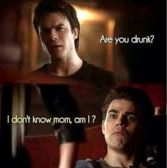 This was possibly one of my favorite Salvatore bros moment ever. Stefan's face #TVD♡