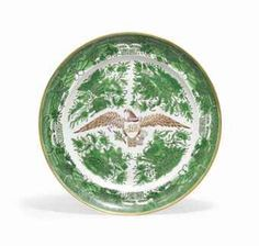 AMERICAN EAGLE GREEN  PLATE The United States eagle with a ribbon[THERE'S MY BABY\\dw//]\\dw//