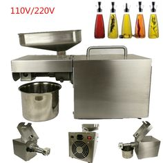 Automatic Hot Cold Press Oil Press Oil Extractor Expeller Press Machine Stainless Steel Peanut Nut Oil Press Machine #Affiliate
