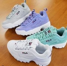 Hola Source by sheylamayerlinaguilarfigueroa fila Sock Shoes, Vans Shoes, Shoe Boots, Shoes Sneakers, Sneakers Fashion, Fashion Shoes, Fila Disruptors, Cute Sneakers, Aesthetic Shoes