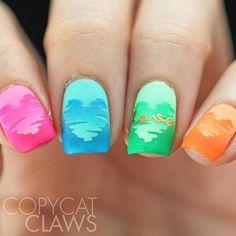Copycat Claws: The Digit-al Dozen does Nail Heroes - pipe dream polish and China Glaze Love Nails, Fun Nails, Pretty Nails, Heart Nail Art, Heart Nails, Sparkle Nails, Glitter Nails, Nailart, Stone Nail Art