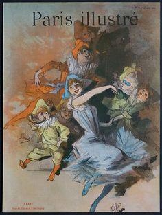 Jules CHERET Original 1888 Lithograph Art Nouveau Paris Illustré Belle Epoque