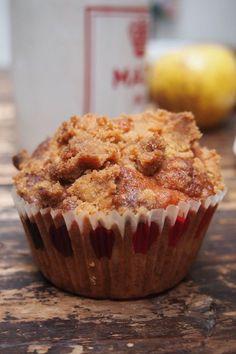 Muffins pomme cannelle et crumble / paris dans ma cuisine Streusel Muffins, Biscuits, Paris, Food Porn, Cupcakes, Meals, Breakfast, Desserts, Cupcake