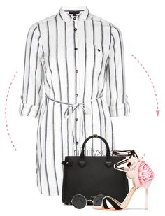 """""""Flamingos"""" by infinityxoxo ❤ liked on Polyvore featuring Topshop, Burberry and Sophia Webster"""