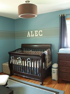 Love the colours, and the crib is similar to ours.... and for once there is a photo of a nursery idea that does NOT have a tree painted on the wall....