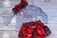 Hey, I found this really awesome Etsy listing at https://www.etsy.com/listing/256680324/baby-christmas-outfit-nice-christmas