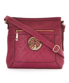 This MKF Collection Purple Quilted Medallion Crossbody Bag by MKF Collection is perfect! #zulilyfinds