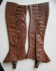 1910s1920s equestrian chaps leather halfchaps by edgertor on Etsy, $72.99