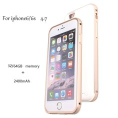 Backup External Charger Battery Case For IOS 2400mAh Power Case Cover 32 64 GB Memory Storage Portable Ultra Thin