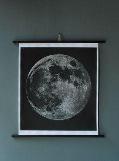 Moon Chart Print (Signed). $98.00, via Etsy.