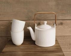 """Teekanne """"Linna"""", Asa Selection Mrs Teapot, Teapot Design, Kitchenware, Tableware, Teapots And Cups, Paperclay, Chocolate Pots, Ceramic Pottery, Vintage Decor"""