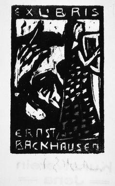 Ex. Libris   Ernst Ludwig Kirchner   woodcut