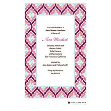 Girl Baby Shower Invitations raspberry pink and blue