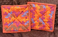 Pot holders hot pads  with modern designs by ManyCharmedTreasures
