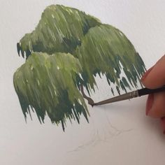 Tree Watercolor Painting, Watercolor Paintings For Beginners, Painting Trees, Tree Paintings, Watercolor Art Lessons, Tree Artwork, Painting Videos, Nature Paintings, Painting Techniques