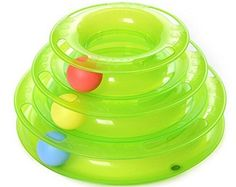 Homedeco Cat Kitty Tower of Tracks Cat Toy Interactive Three Levers Pet Toy Amusement Plate Crazy Ball Disk Cat Scratching Ball Toy Cat Mice Toys Pet Ball Trilaminar Toy (Green) ** Details can be found by clicking on the image. (This is an affiliate link) Pet Ball, Interactive Cat Toys, Interactive Board, Son Chat, Catnip Toys, Cat Scratching, Cat Supplies, Dog Toys, Cats And Kittens
