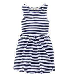 H navy striped dress