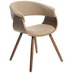 Pastel Olivia Natural Fabric Side Chair