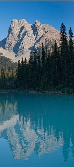 Emerald Lake and Mt. Burgess at Yoho National Park in the Canadian Rockies of British Columbia • photo: Taylor S. Kennedy on FineArtAmerica