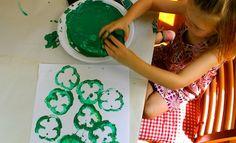 Capsicum Shamrock Stamps | St Patrick's Day | Craft | Kids Activities