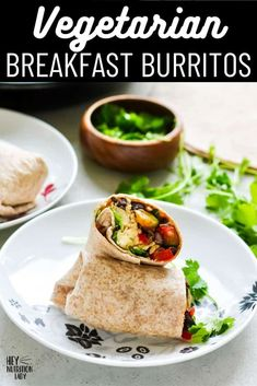 These easy Vegetarian Breakfast Burritos are a healthy, freezer-friendly option for breakfast, lunch, or dinner. Made in one pan, loaded with veggies, scrambled eggs, and whole wheat tortillas, these are great for meal prep and make-ahead meals. Vegetarian Mexican Recipes, Vegetarian Breakfast, Whole Wheat Tortillas, Vegan Main Dishes, Make Ahead Meals, Breakfast Burritos, Scrambled Eggs, Kid Friendly Meals, Freezer