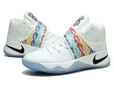 b1a46ec57773 Nike Kyrie 2 II Chaussures Nike Basketball Pas Cher Pour Homme Blanc