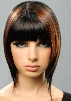 Thick Cinnamon Red Highlights on chestnut brown hair.. Pretty