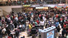 YouTube: Day #16, Joy to the World Christmas Food Court Flash Mob! - Must See!  Uploaded on Dec 18, 2010   Over 200 singers helpped in this awesome food court flash mob!! This took place at the Burnsville Center in Burnsville Minnesota. This flash mob was organized by Prince of Peace Lutheran Church! http://www.princeofpeaceonline.org/