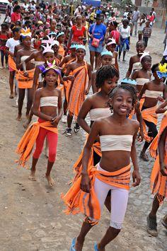 Carnival parade in Calheta de São Miguel, Cape Verde