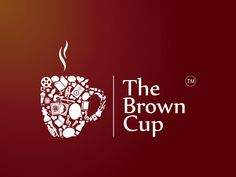 The Brown Cup Vector Logo