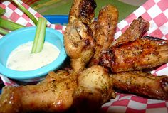 Garlic Parmesan Chicken Wings // made these for the game, fairly simple and turned out great...made twice now, we really like these
