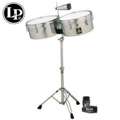 "LP Latin Percussion Aspire Chrome Finish Timbales Set - 13"" & 14"" - Includes: Heavy-Duty Stand, LP Aspire Cowbell, Cowbell holder, Drum Key, Timbale Sticks & LP201BK-P LP Rumba Shaker by Latin Percussion. $229.00. LP Latin Percussion Aspire Chrome Finish Timbales Set -LP Aspire Timbales are a great and affordable place to begin learning the magic of timbale playing, whether used traditionally or as an addition to a drum kit. They provide characteristic timbale soun..."
