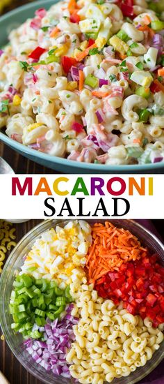 Homemade Macaroni Salad, Classic Macaroni Salad, Best Macaroni Salad, Creamy Macaroni Salad, Best Pasta Salad, Salad Dishes, Pasta Salad Recipes, Pasta Dishes, Food Dishes