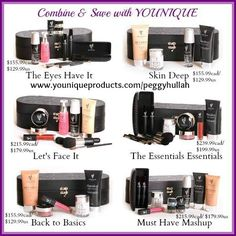 Here are the six NEW collections!  What a great way to try a variety of products and SAVE money! #moneysaving, #younique