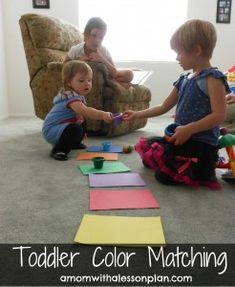 Toddler fun... matching colors