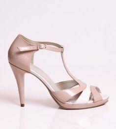 Sandale dama de piele cu toc si platforma Hapi