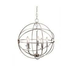Update your home with this unique mini chandelier by Yosemite Home decor. The Shooting Star Collection features a contemporary 7 light chandelier in a Satin N…
