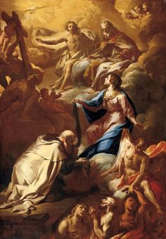 Corrado Giaquinto (Italian 1703–1756) [Baroque, Rococco] St Simon Stock and the Virgin Interceding for Souls in Pergatory. – The Athenaeum