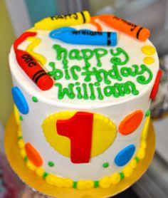 Leah's Sweet Treats: Crayons Smash Cake