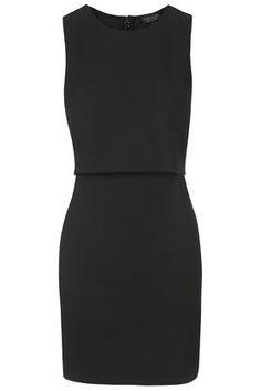 Sleeveless Curved Hem Overlay Dress