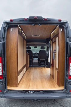 Van converted with custom woodworking - HomemadeTools.net